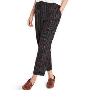 Madewell High Waist Crop Pants Trousers Black Dot